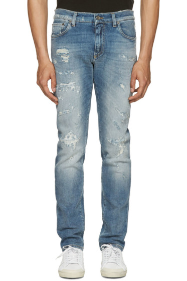 Dolce & Gabbana - Blue Distressed Jeans