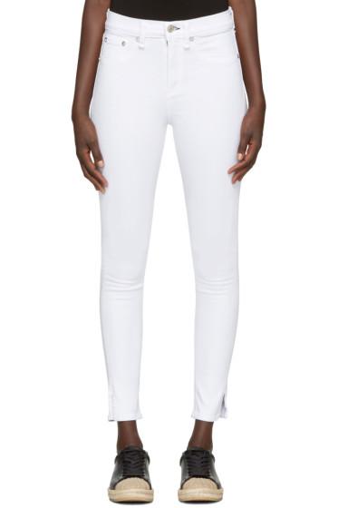 Rag & Bone - White 10 Inch Capri Jeans
