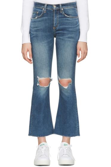 Rag & Bone - Blue Crop Flare Jeans
