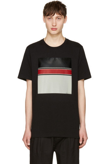 Rag & Bone - Black Block Print T-Shirt