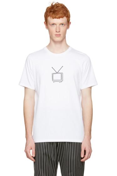 Rag & Bone - White T.V. Embroidery T-Shirt