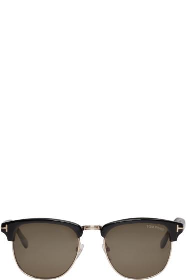 Tom Ford - Black & Gold Henry Sunglasses
