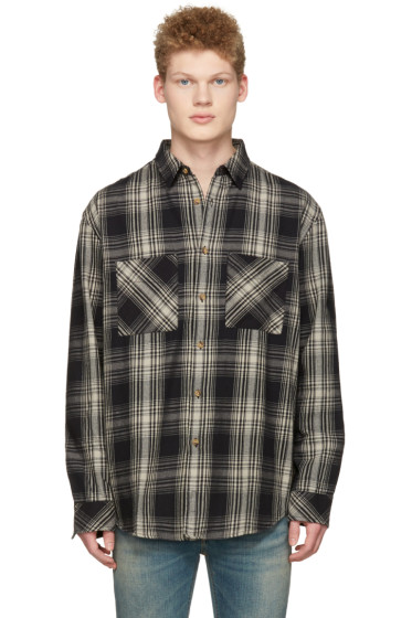 Nudie Jeans - Black Calle Shadow Check Shirt