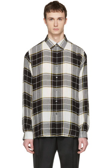 Public School - Black Check Idi Shirt