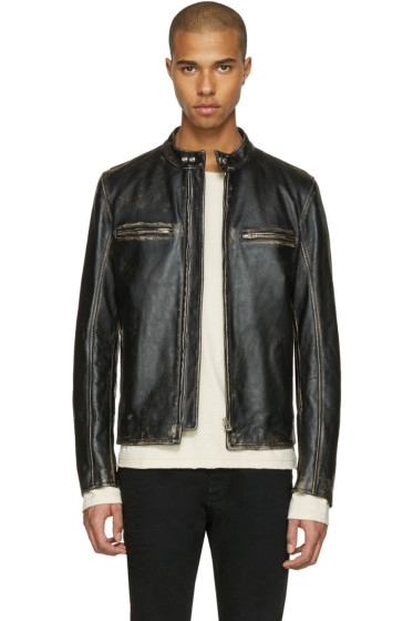 Belstaff - Black Leather Landrake 2.0 Biker Jacket