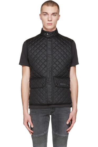 Belstaff - Black Quilted Wasicoat Vest