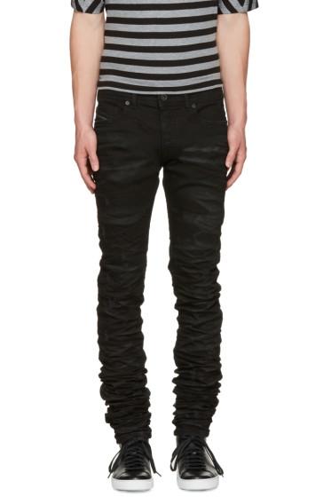 Diesel Black Gold - Black Super Long Skinny Jeans