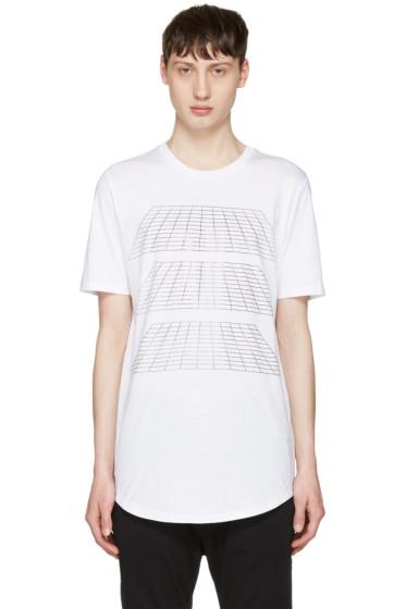 Diesel Black Gold - White Geometric T-Shirt