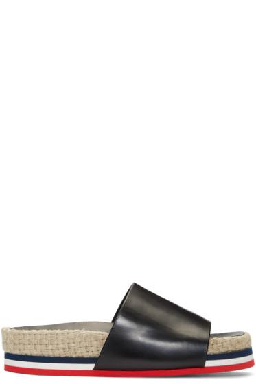 Moncler - Black Evelyne Flatform Sandals