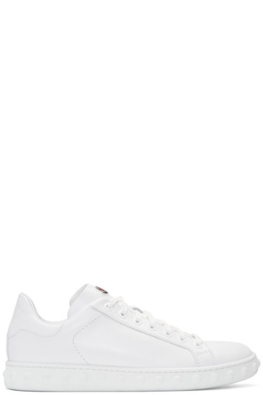 Moncler - White Leather Fifi Sneakers