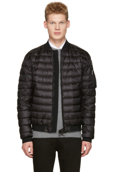 Moncler - Black Down Aidan Bomber Jacket