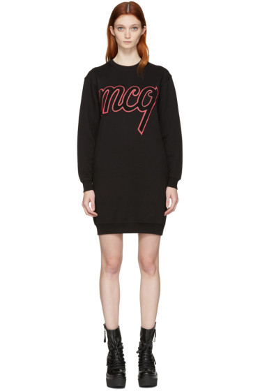 McQ Alexander Mcqueen - Black Logo Classic Dress