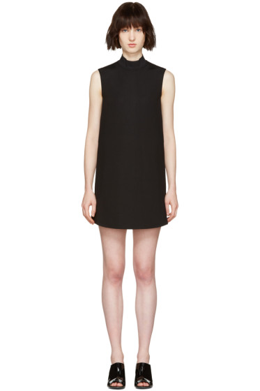 McQ Alexander Mcqueen - Black High Neck Dress