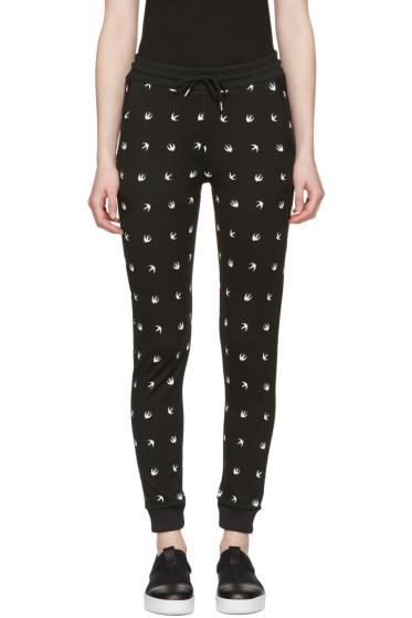 McQ Alexander Mcqueen - Black Swallows Lounge Pants