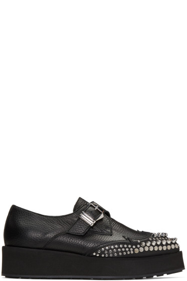 McQ Alexander Mcqueen - Black Manor Creeper Monkstraps