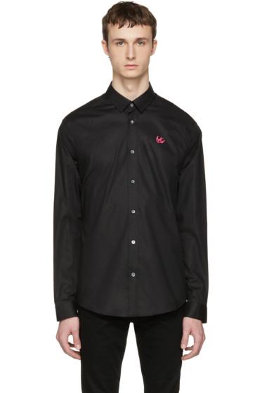 McQ Alexander Mcqueen - Black Swallow Skull Shirt