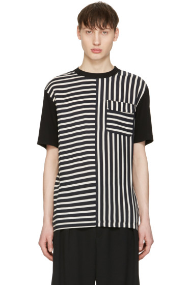 McQ Alexander Mcqueen - Blue Striped River T-Shirt