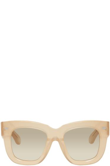 Acne Studios - Beige Library Metal Sunglasses