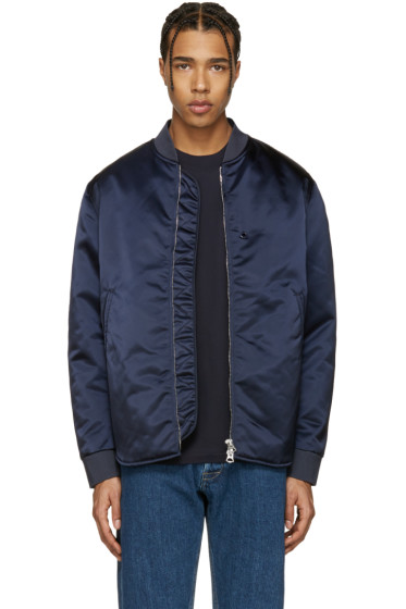 Acne Studios - Navy Mylon Bomber Jacket