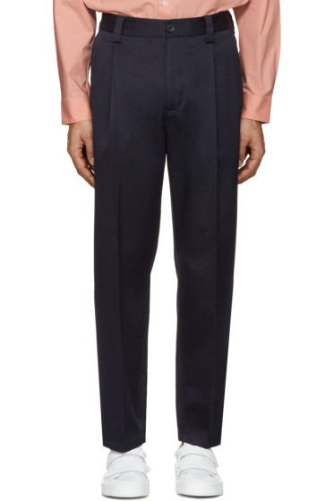 Acne Studios - Navy Cotton Abram Trousers