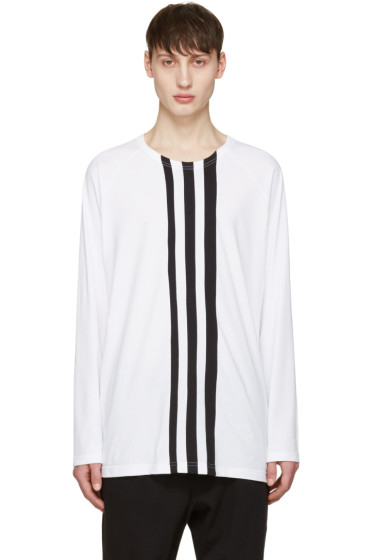 Y-3 - White Three Stripe T-Shirt