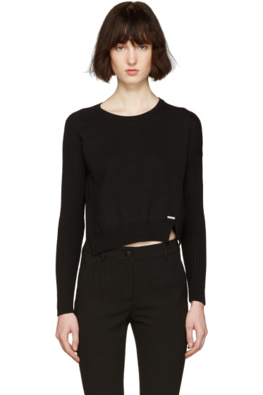 Dsquared2 - Black Short Slit Sweater