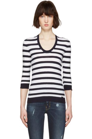 Dsquared2 - White Striped Pullover