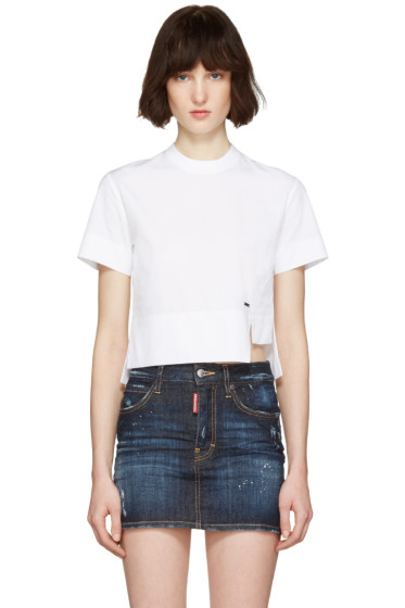 Dsquared2 - White Poplin Mini Blouse T-Shirt