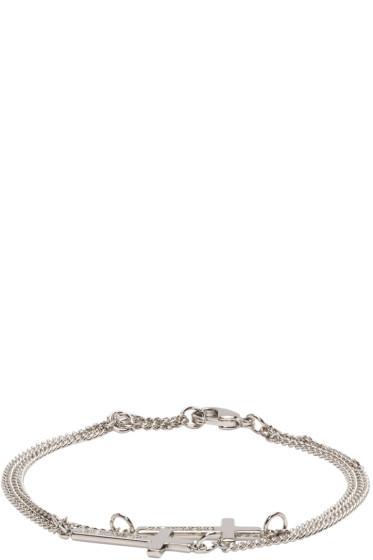 Dsquared2 - Silver Double Cross Bracelet