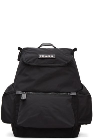 Dsquared2 - Black Nylon Backpack