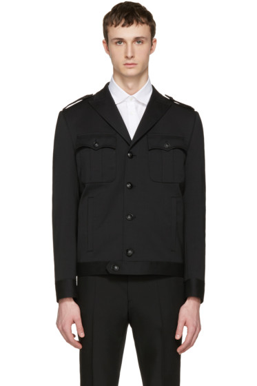 Dsquared2 - Black Wool Military Chic Bomber