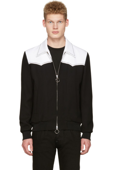 Dsquared2 - Black & White Chic Western Bomber Jacket