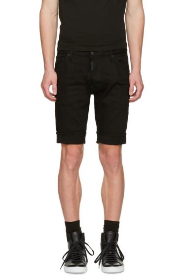 Dsquared2 - Black Denim Long Mod Shorts