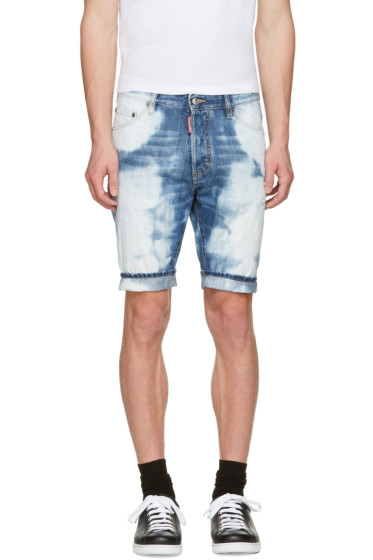 Dsquared2 - Blue Denim Glam Head Shorts
