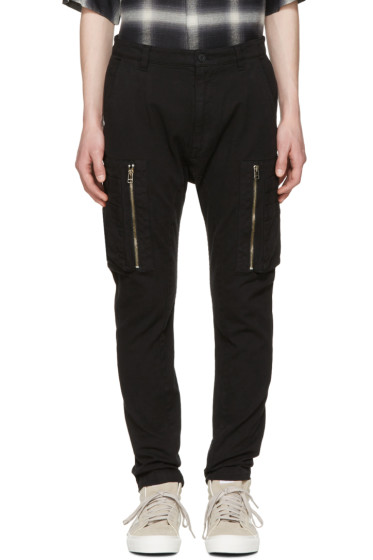 Helmut Lang - Black Utility Cargo Pants