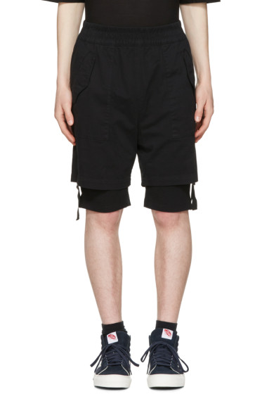 Helmut Lang - Black Double Layer Shorts