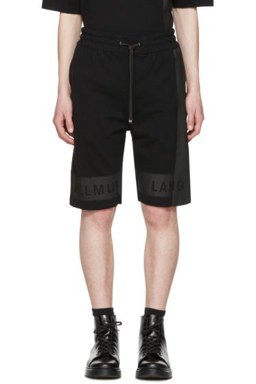 Helmut Lang - Black Printed Track Shorts
