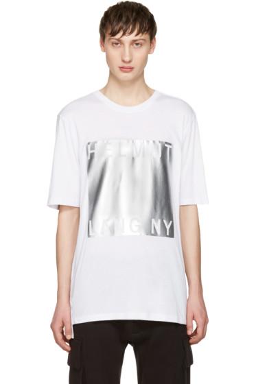 Helmut Lang - White Box Fit Print T-Shirt