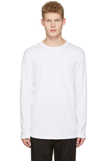 Helmut Lang - White Long Sleeve T-Shirt