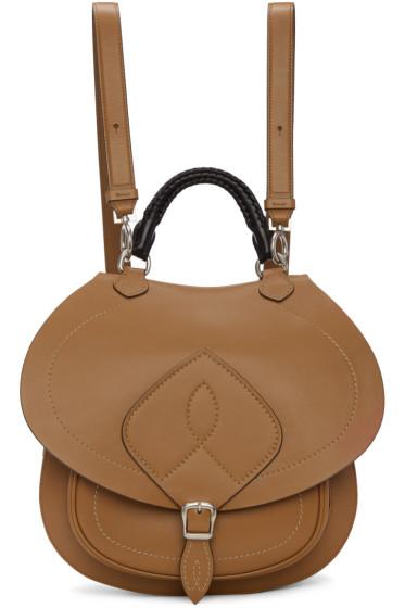 Maison Margiela - Brown Leather Saddle Bag