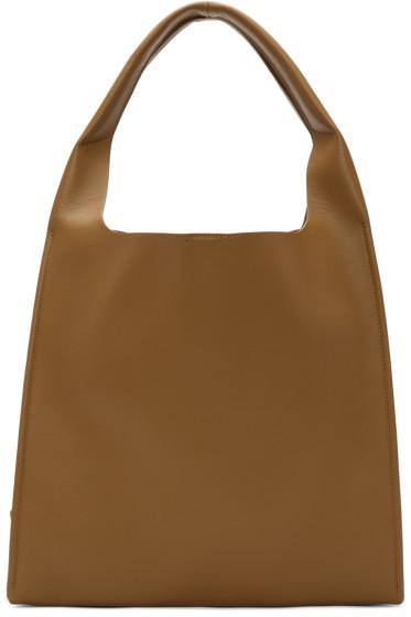 Maison Margiela - Brown Leather Tote Bag