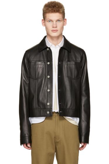 Maison Margiela - Black Leather Trucker Jacket