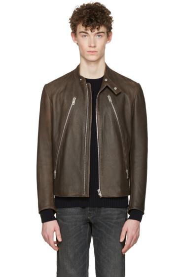 Maison Margiela - Brown Five-Zip Jacket
