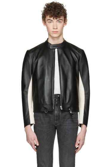 Maison Margiela - Black Leather Racer Jacket