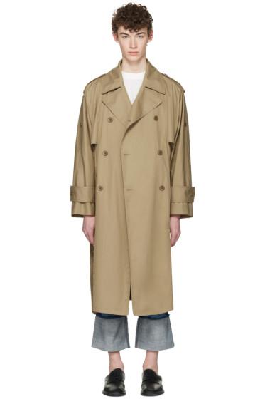Maison Margiela - Beige Oversized Trench Coat