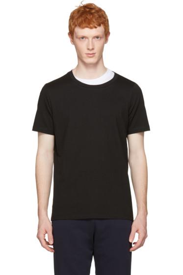 Maison Margiela - Black Layered Collar T-Shirt