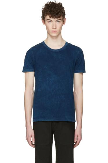 Maison Margiela - Three-Pack Indigo Jersey T-Shirts