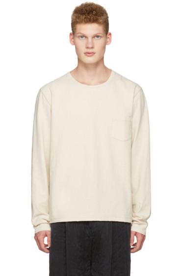 Maison Margiela - Ivory Cropped Pocket T-Shirt