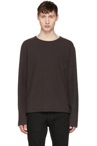 Maison Margiela - Grey Cropped Pocket T-Shirt