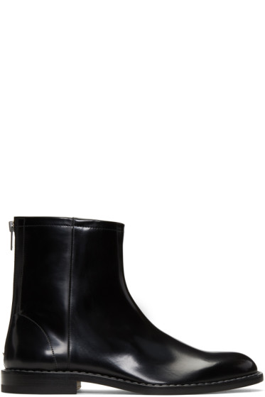 Maison Margiela - Black Leather Zip Boots